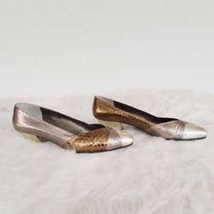 VanEli Shoes Women 9 M Heel Metallic Tri-Color Pat